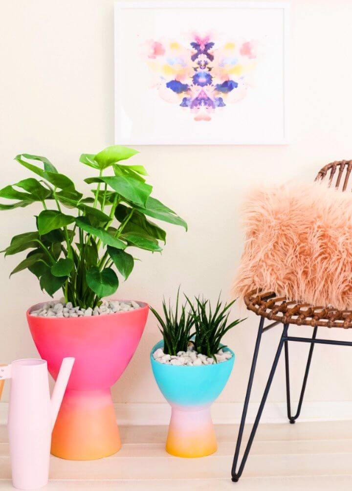 Awesome DIY Gradient Planters