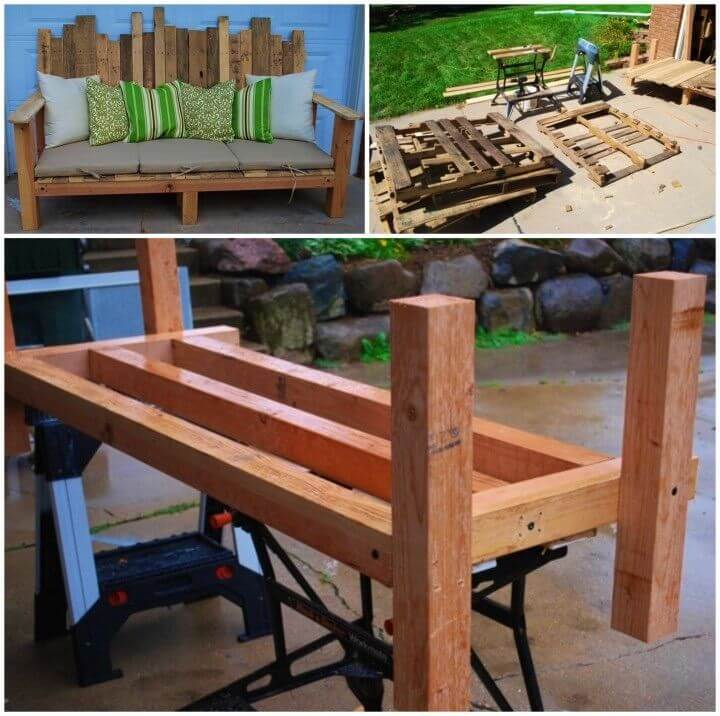 Awesome DIY Outdoor Pallet Sofa