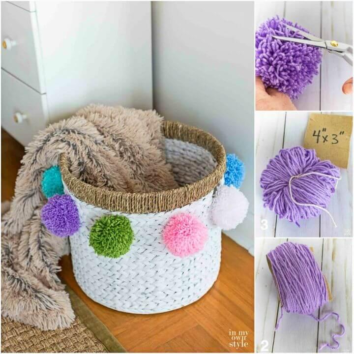 Awesome DIY Pom Pom Basket