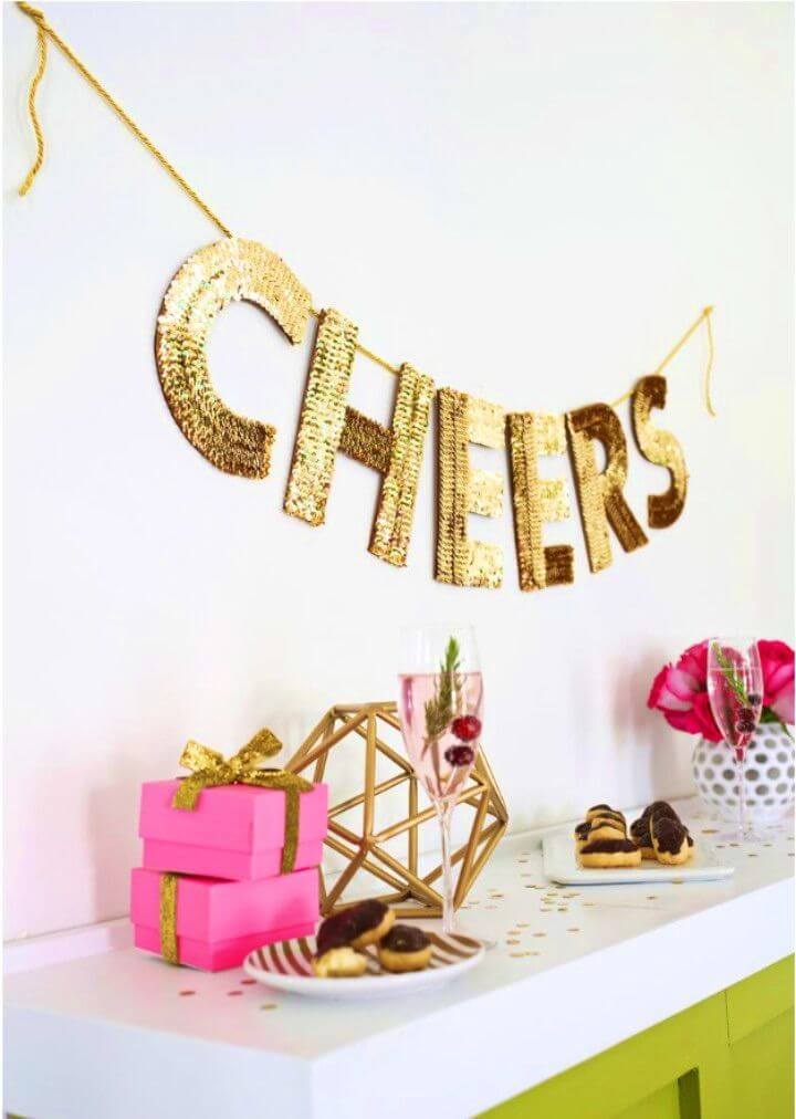 Awesome DIY Sequin Letter Garland