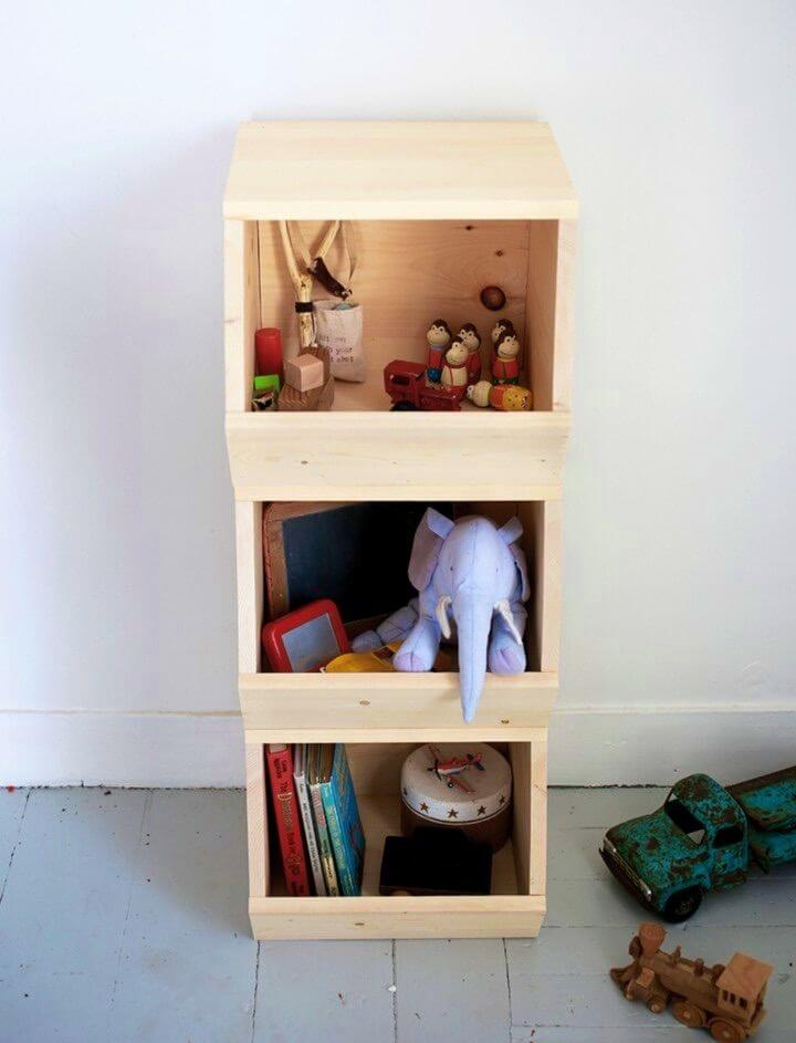Awesome DIY Wooden Toy Bins