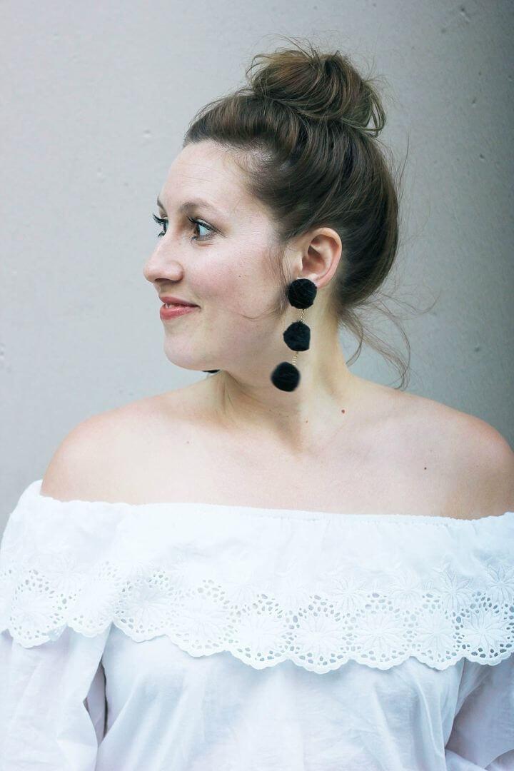 Beautiful DIY Pom pom Earrings