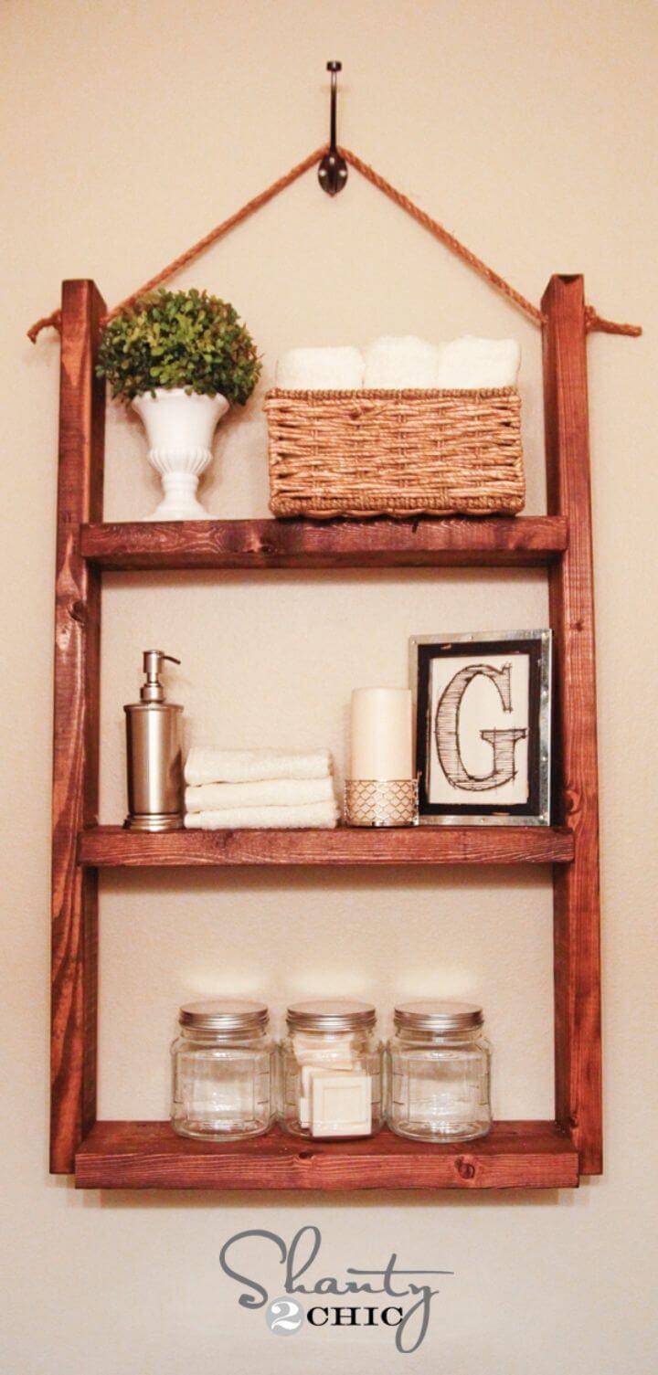 Build Hanging Bathroom Shelf