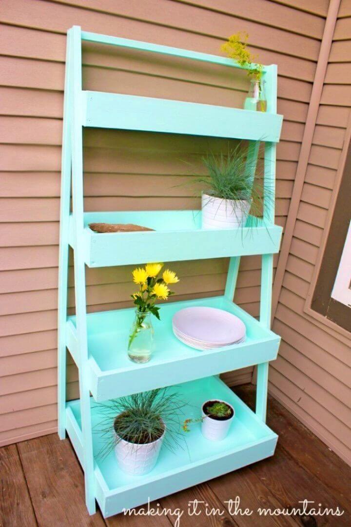 Build Outdoor Ladder Shelf