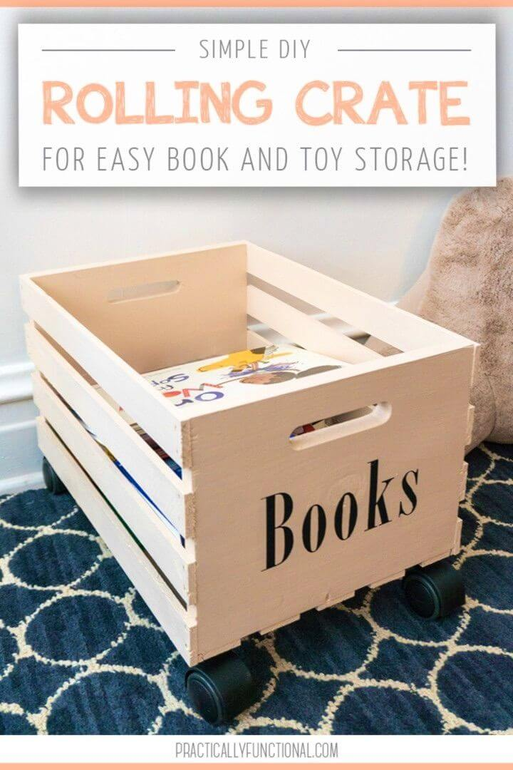 Build Rolling Crate For Easy Book Storage