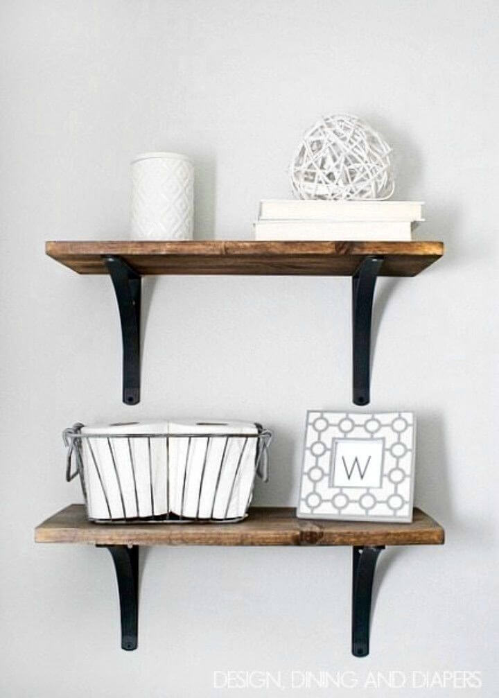 Build Your Own Rustic Bathroom Shelving