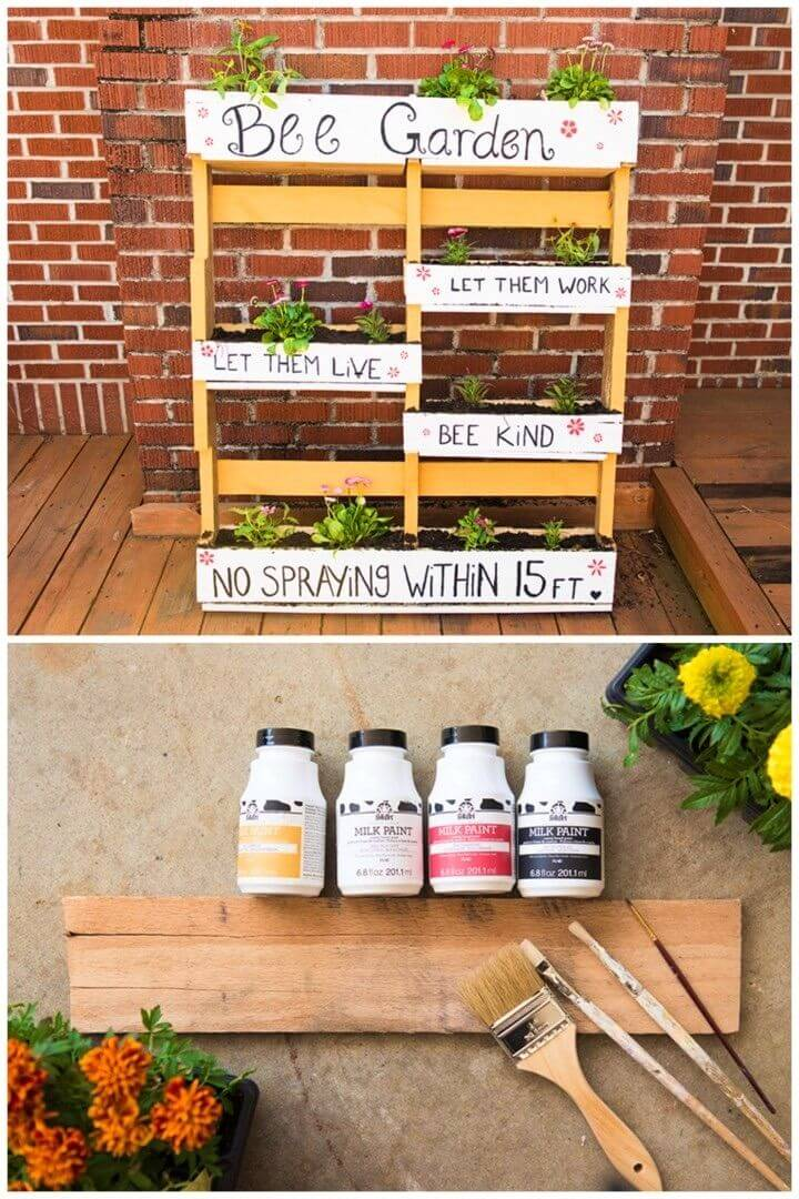 Build a Bee Garden from a Wood Pallet