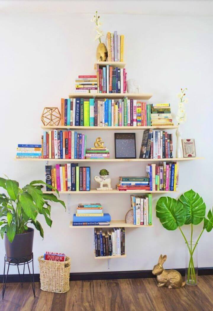 Build a Diamond Shaped Book Shelves