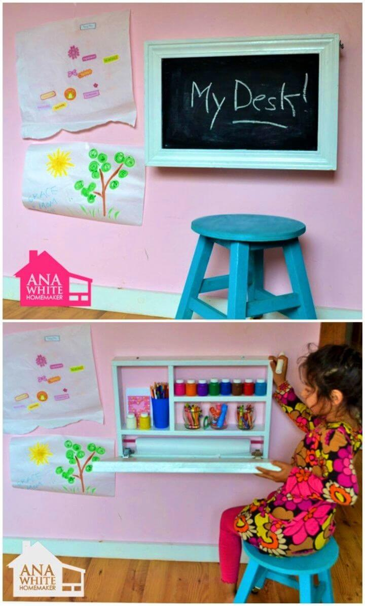 Build a Flip Down Wall Art Desk