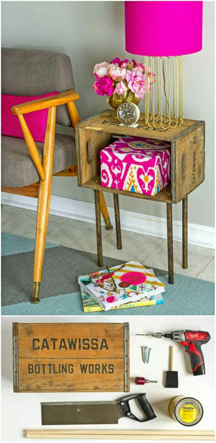 Build a Night Stand from a Wood Crate