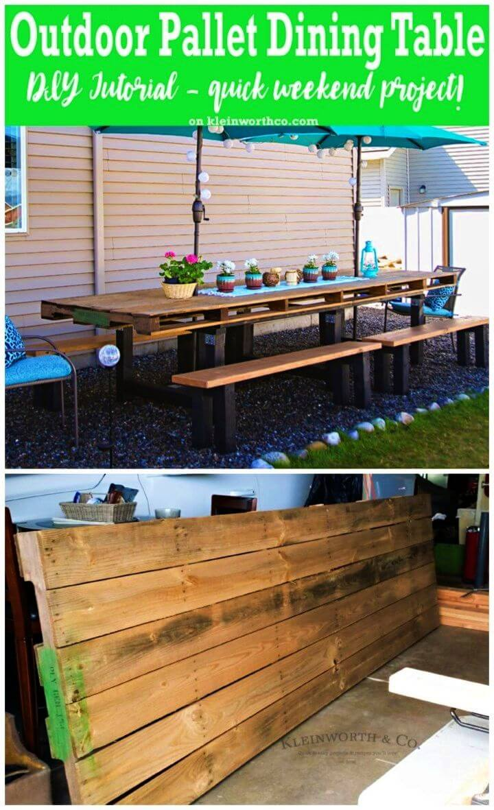 Build a Pallet Outdoor Dining Table