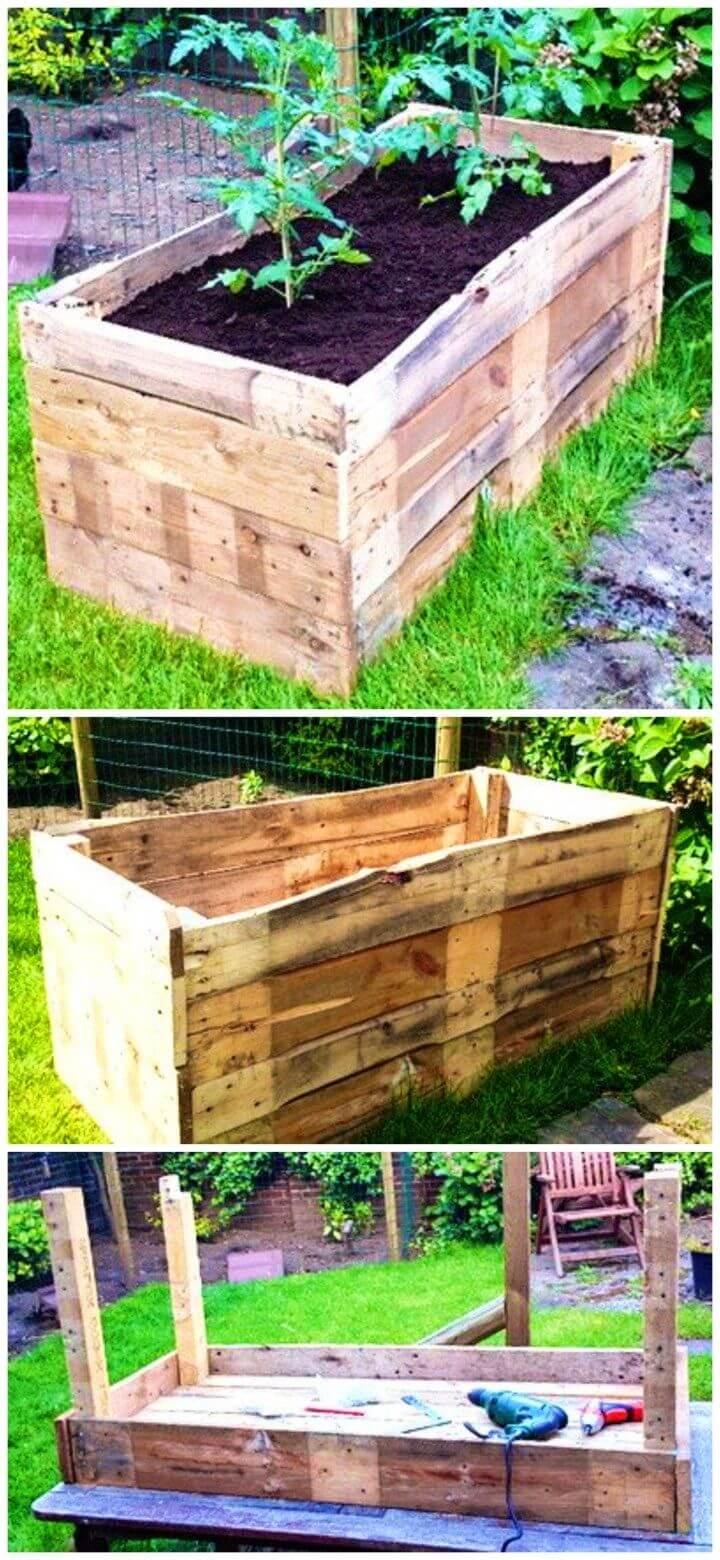 Build a Wooden Pallet Raised Garden Planter