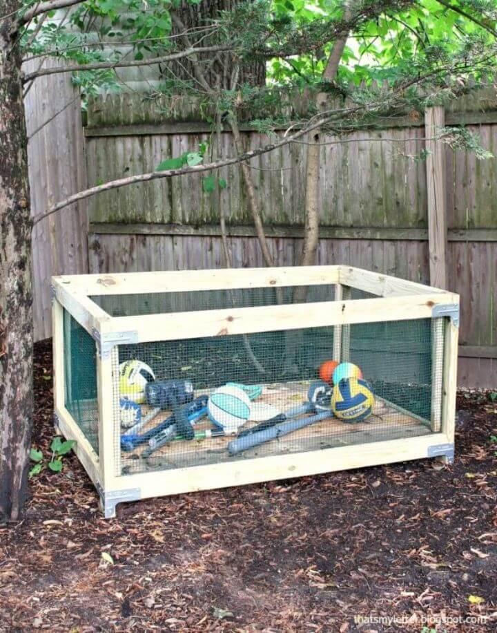 Build an Outdoor Toy Storage