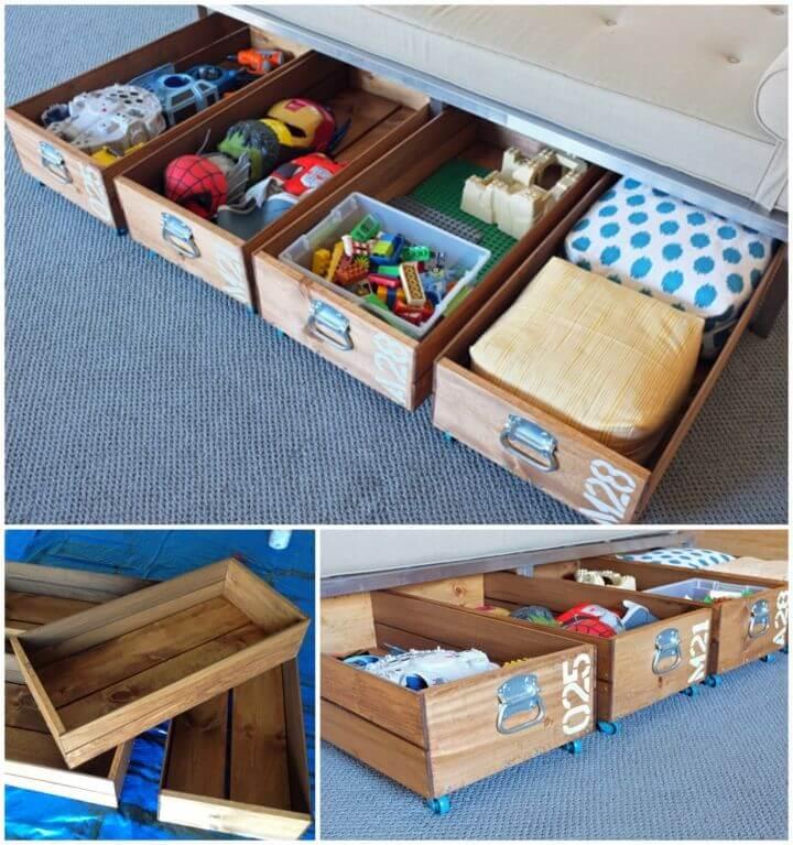 Cheap DIY Rolling Storage Crates