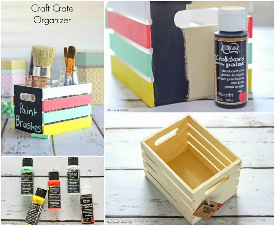 Colorful DIY Crate Organizer