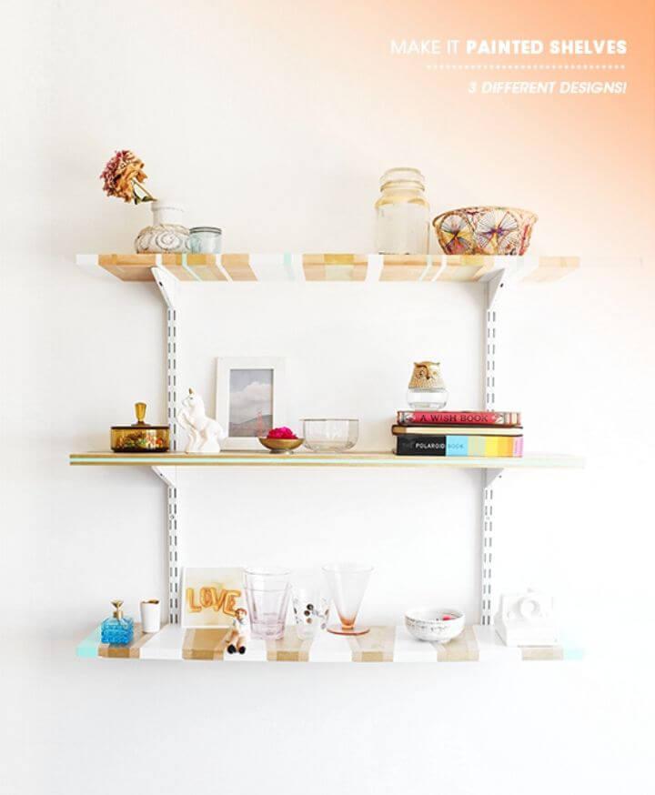 Colorful DIY Shelves Tutorial