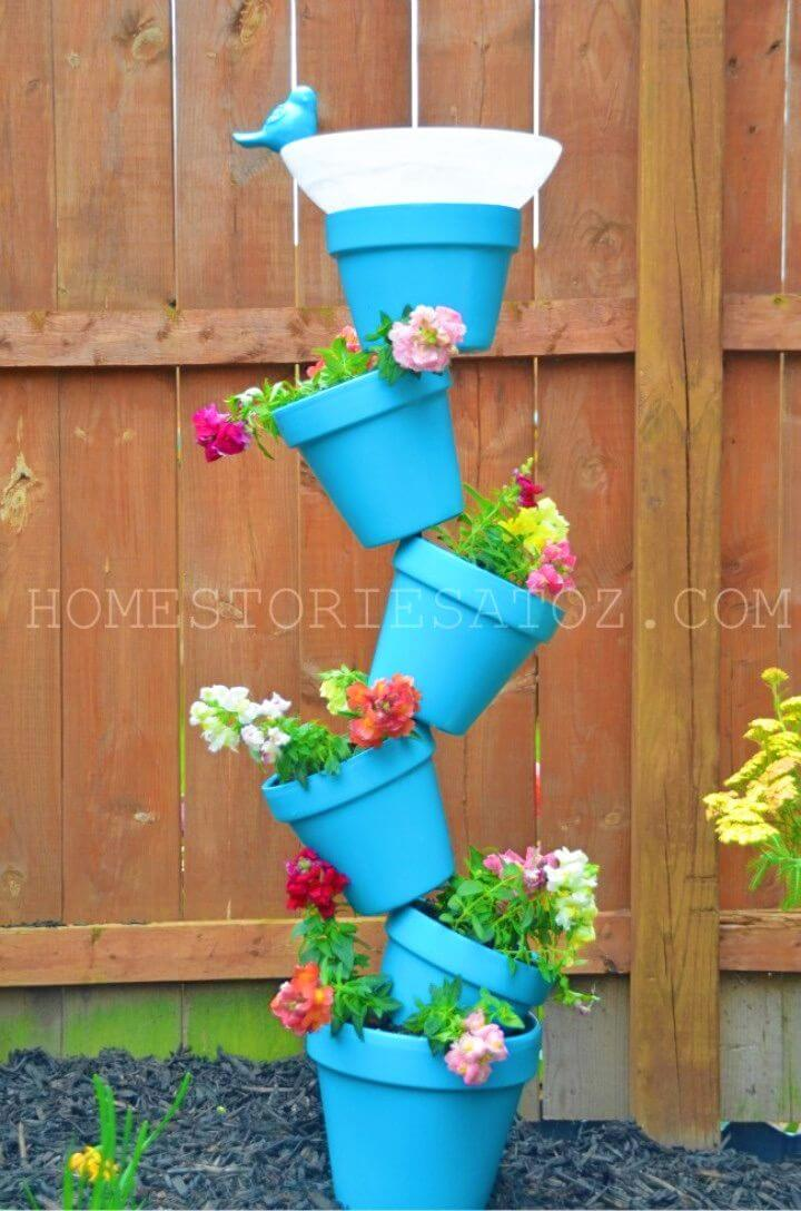 Create a Planter and Bird Bath In One