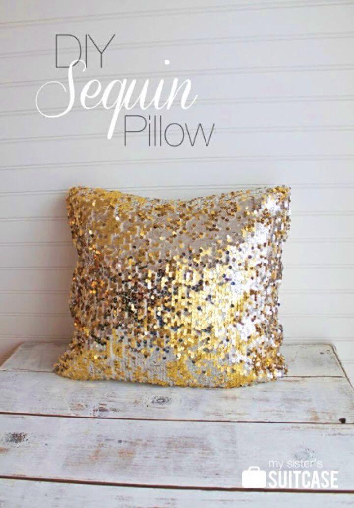 Create a Sequin Pillow Gift Idea For Girl