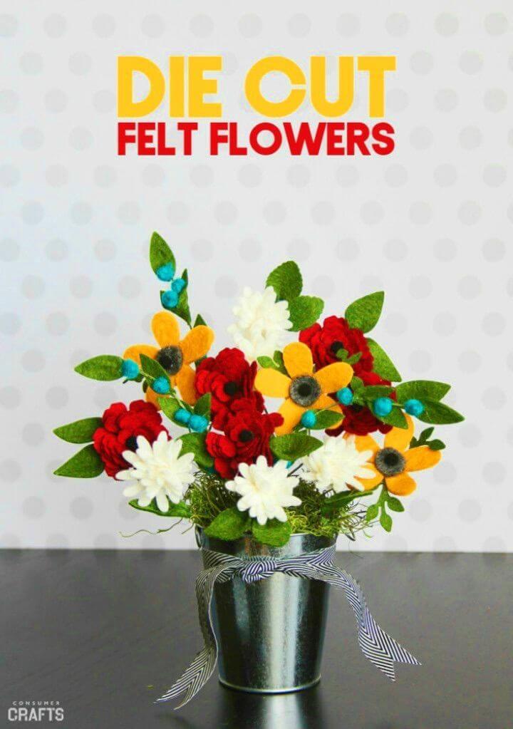 Cut DIY Felt Floral Arrangement