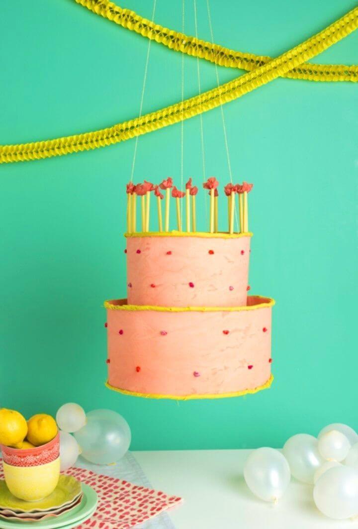 Cute DIY Birthday Cake Chandelier