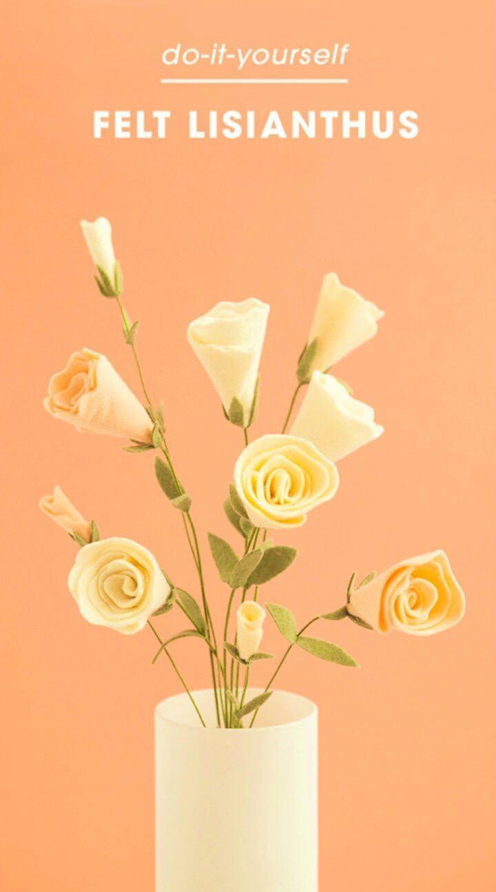 Cute DIY Felt Lisianthus Flower