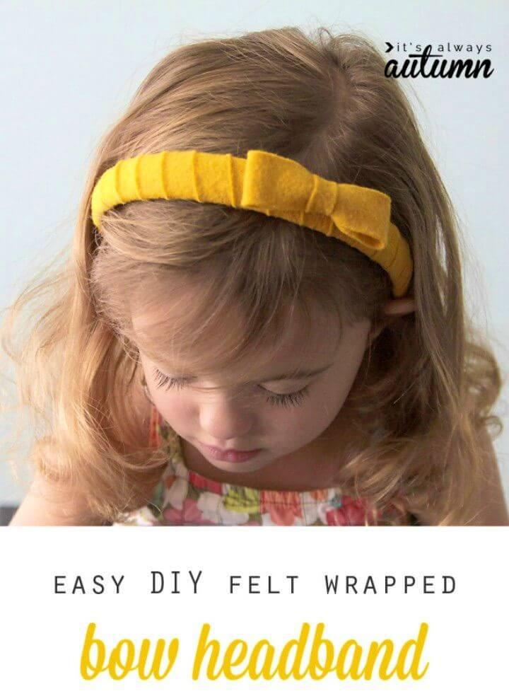 Cute DIY Felt Wrapped Headband