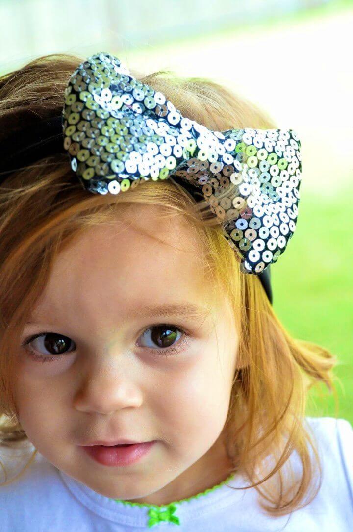 Cute DIY Sequin Bow Headband