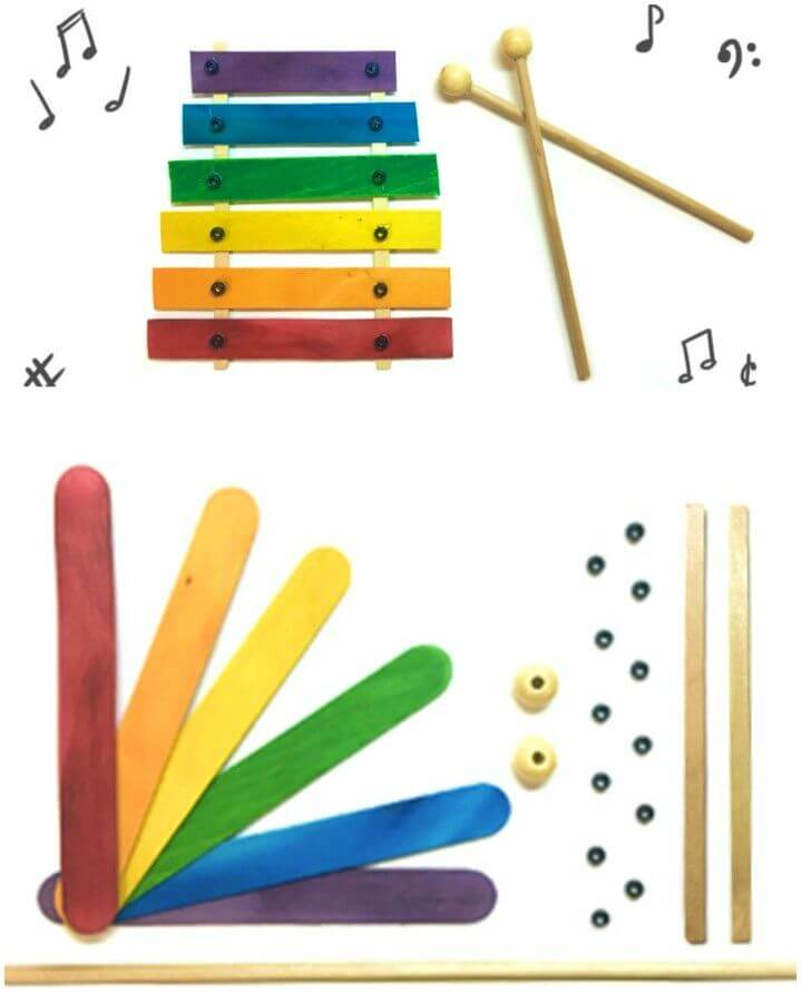 DIY A to Z Xylophone From Popsicle Sticks
