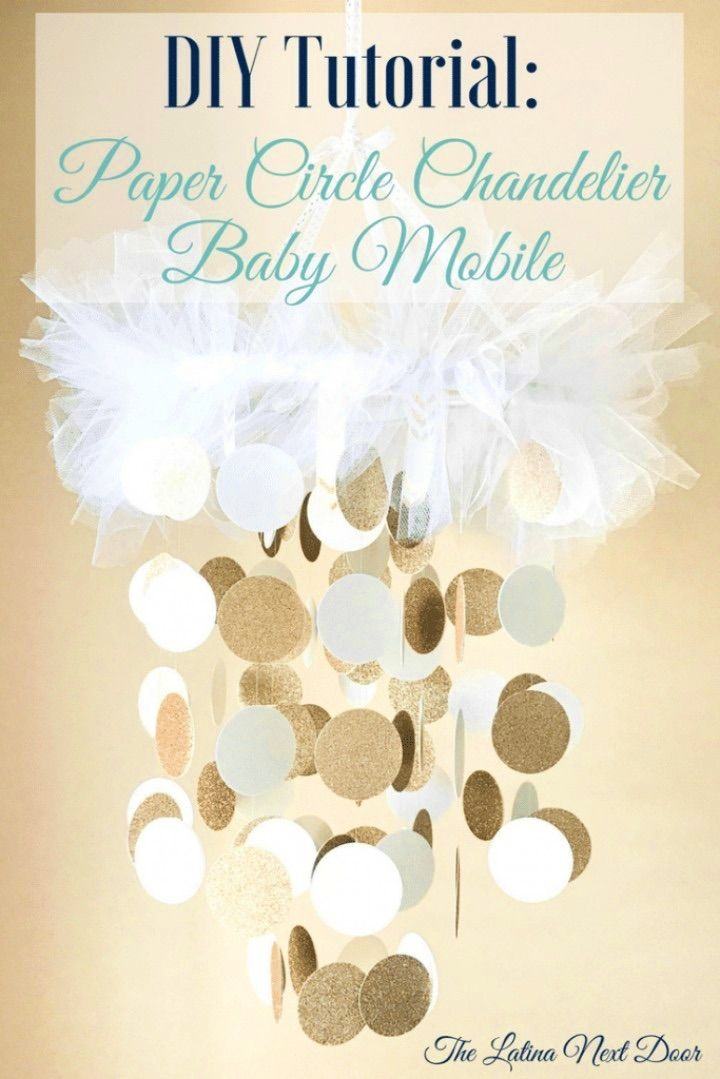 DIY Baby Mobile Circle Chandelier