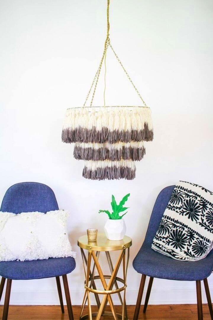DIY Boho Tassel Chandelier Will Light Up Your Home