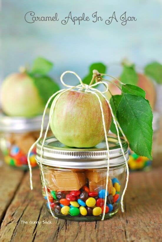 DIY Caramel Apple in a Jar