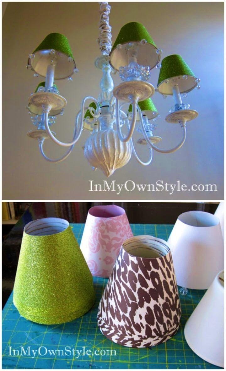 DIY Chandelier Shades Covers
