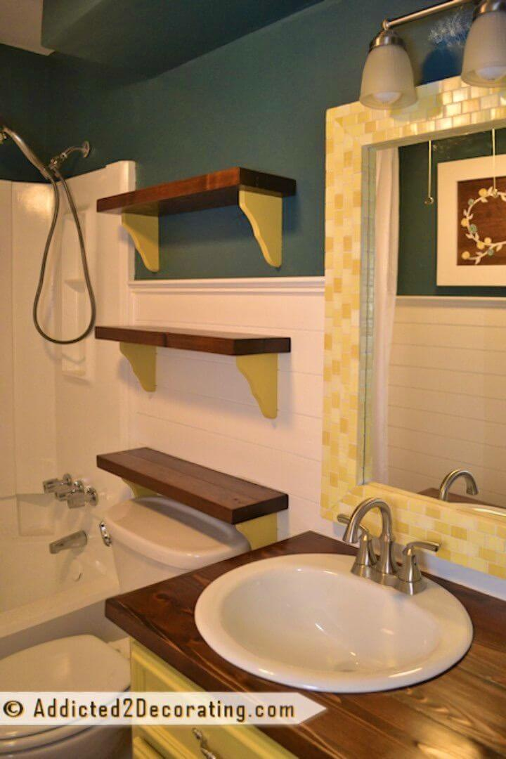 DIY Chunky Scrap Wood Shelves