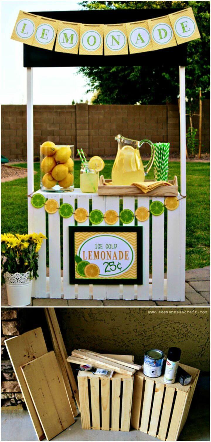 DIY Crate Lemonade Stand for Kids