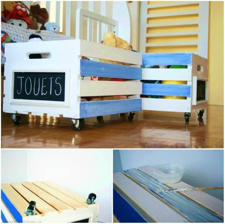 DIY Crate on Wheels Toy Storage Tutorial