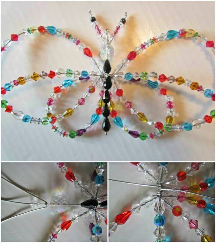 DIY Crystal Butterfly Garden Sun Catcher