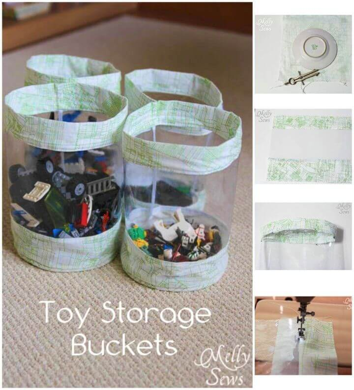 DIY Fabric Toy Storage Bucket