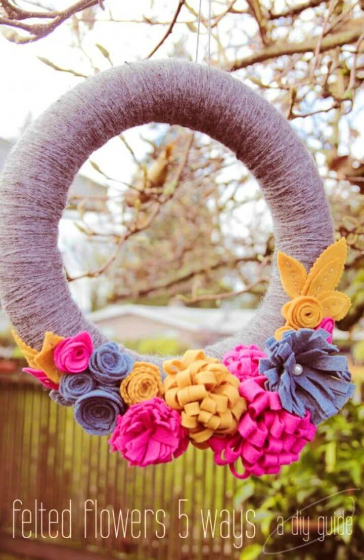 DIY Felt Flowers Five Ways