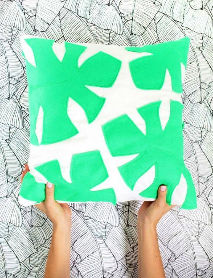 DIY Felt Palm Leaf Pillow