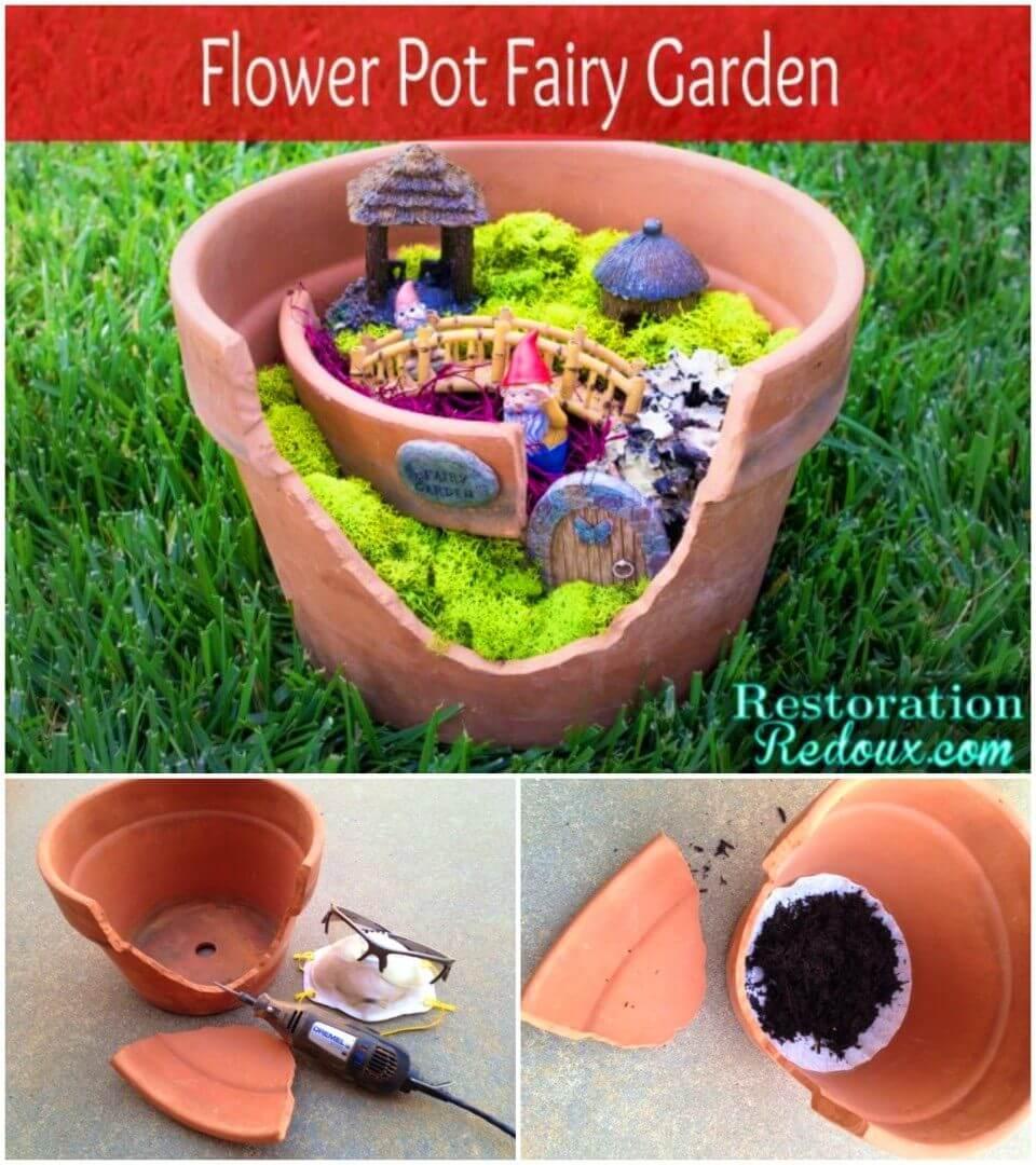 DIY Flower Pot Fairy Garden