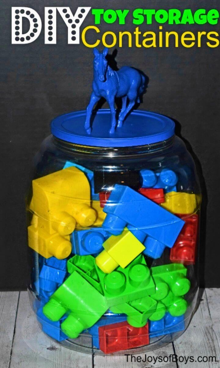DIY Fun Toy Storage Containers