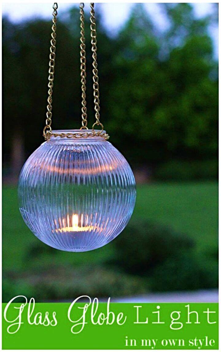 DIY Garden Glass Hanging Lights