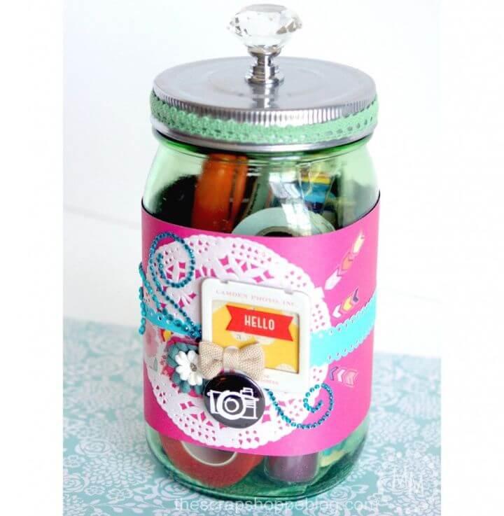 DIY Gift in a Jar for Scrapbookers