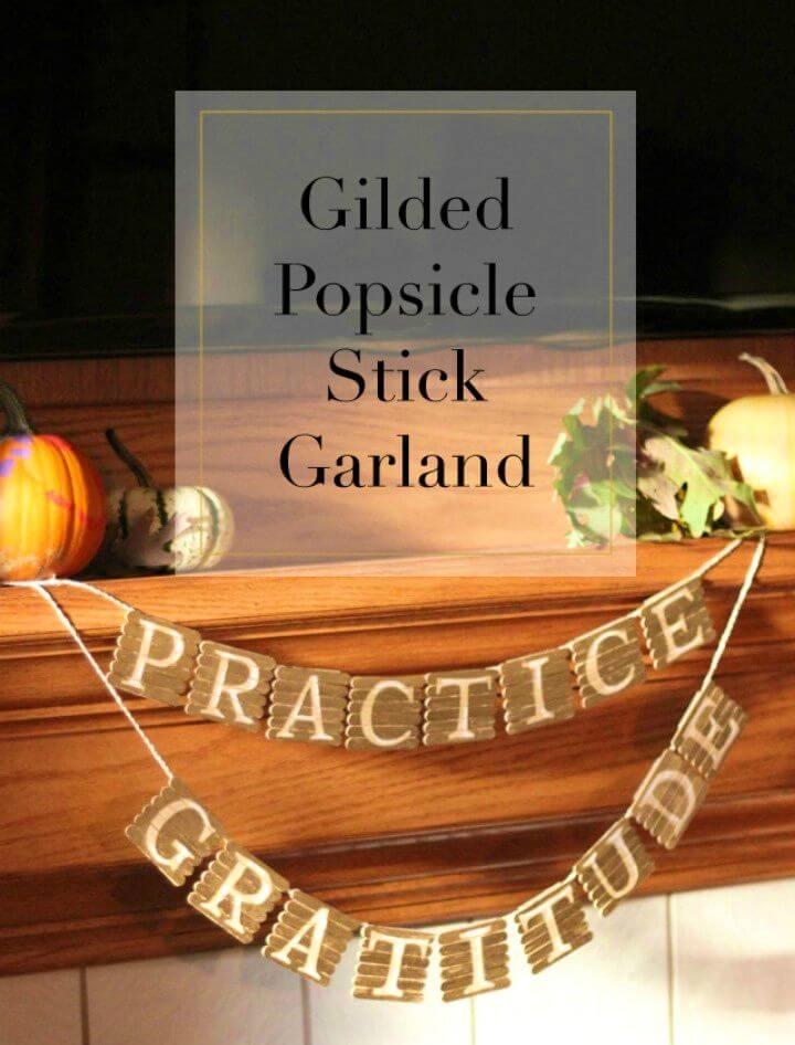 DIY Gilded Popsicle Stick Garland