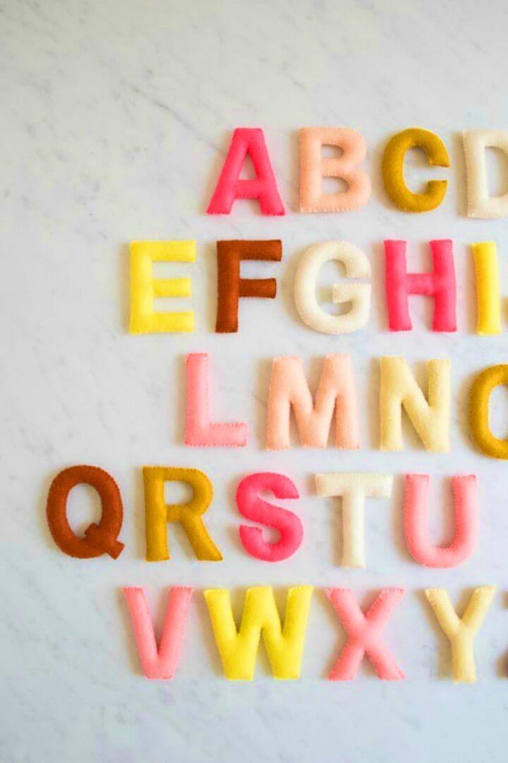 DIY Hand Sewn Felt Alphabet