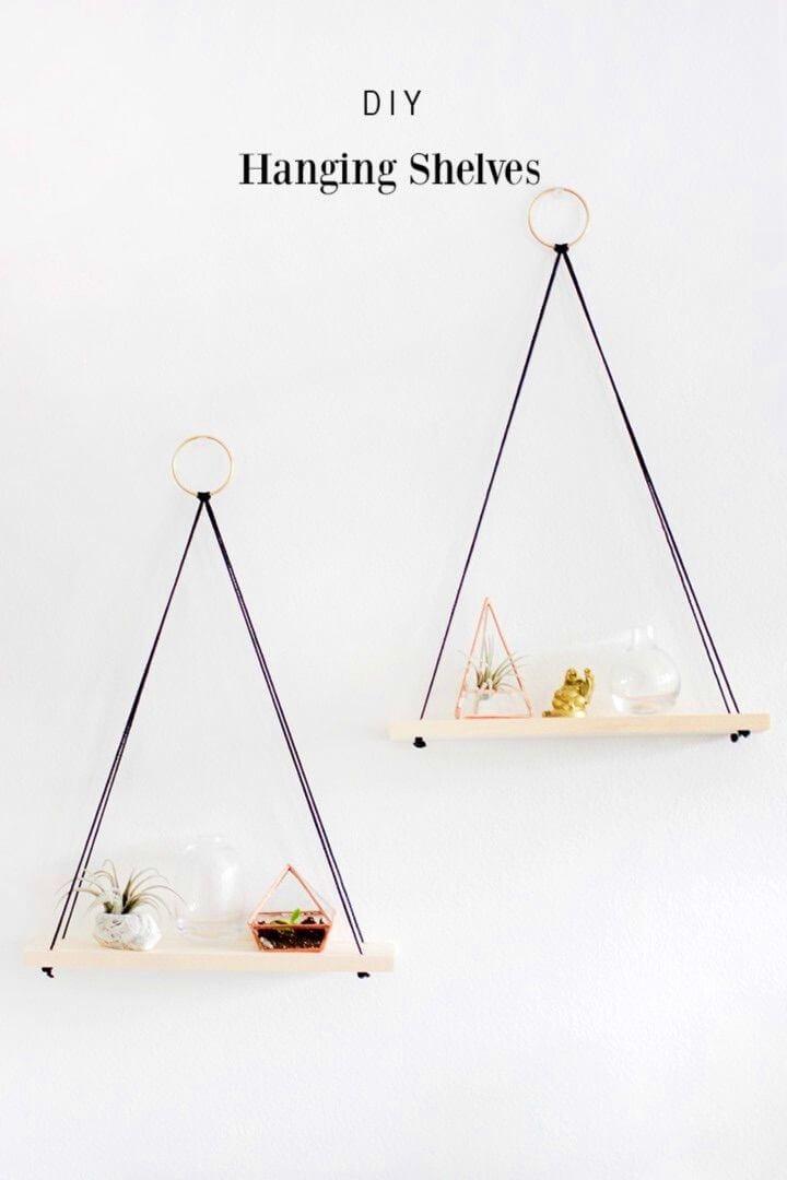 DIY Hanging Shelves Simple Design