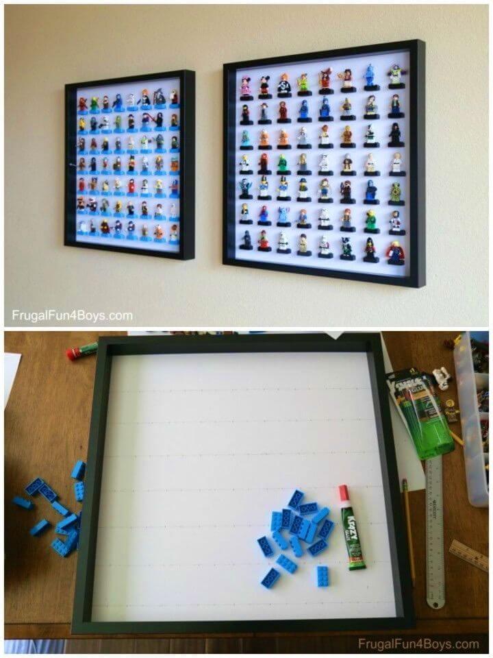 DIY Ikea Frame Lego Minifigure Display and Storage