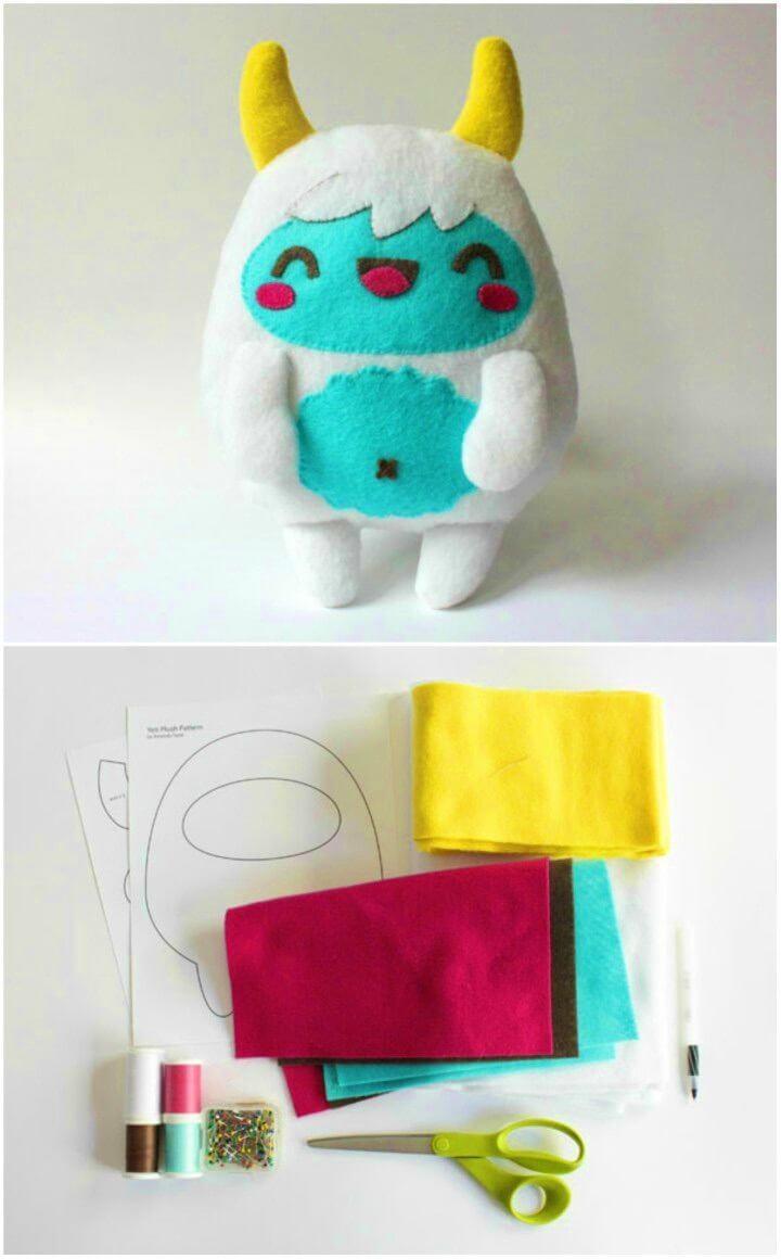 DIY Kawaii Yeti Monster Plush Softie