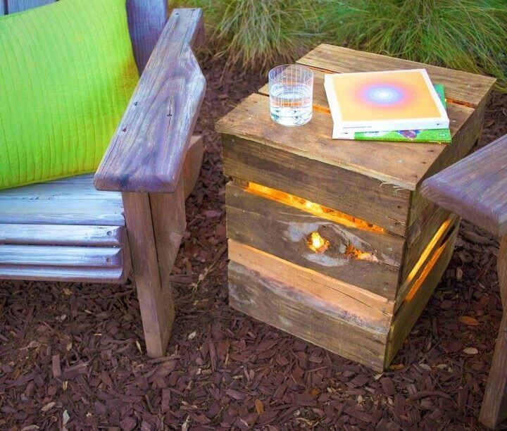 DIY Lights from Recycled Pallet