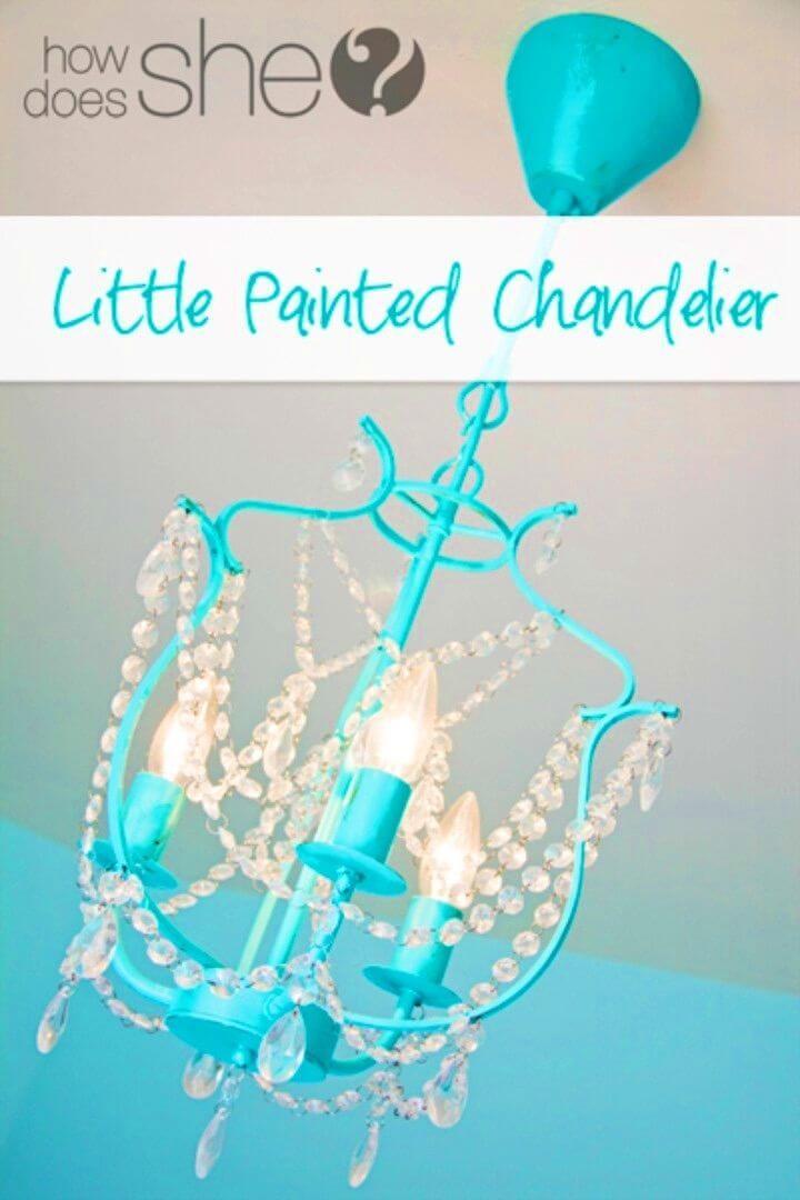 DIY Little Painted Chandelier